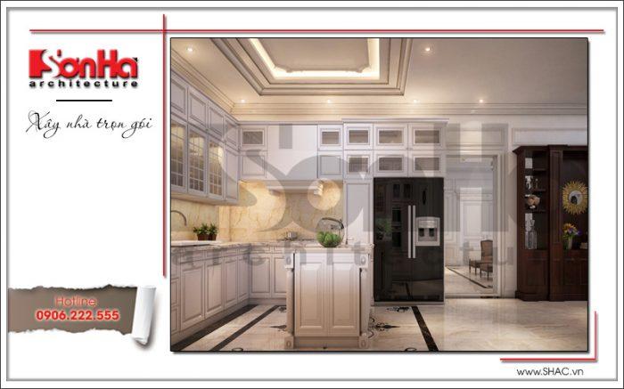 3 Thiết kế nội thất phòng bếp biệt thự khu đô thị vinhomes hải phòng