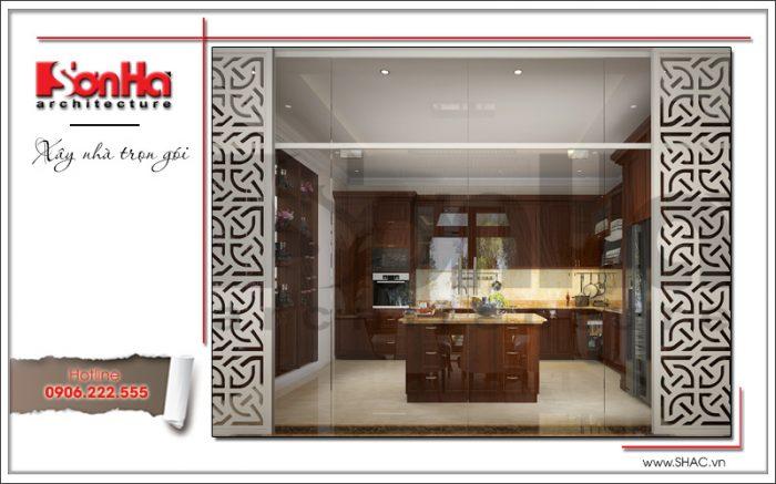 3 Thiết kế nội thất phòng bếp biệt thự khu đô thị vinhomes tại hải phòng