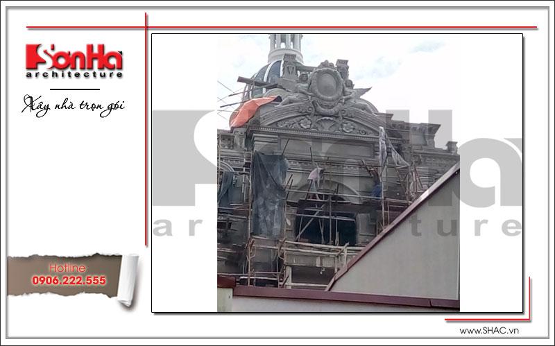 Xây nhà trọn gói công trình biệt thự cổ điển 4 tầng xa hoa tại Hà Nội – SH BTLD 0021 20