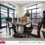4 Ảnh thực tế nội thất phòng ăn biệt thự tân cổ điển khu đô thị vinhomes hải phòng