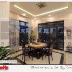 4 Ảnh thực tế nội thất phòng bếp ăn biệt thự tân cổ điển khu đô thị vinhomes hải phòng