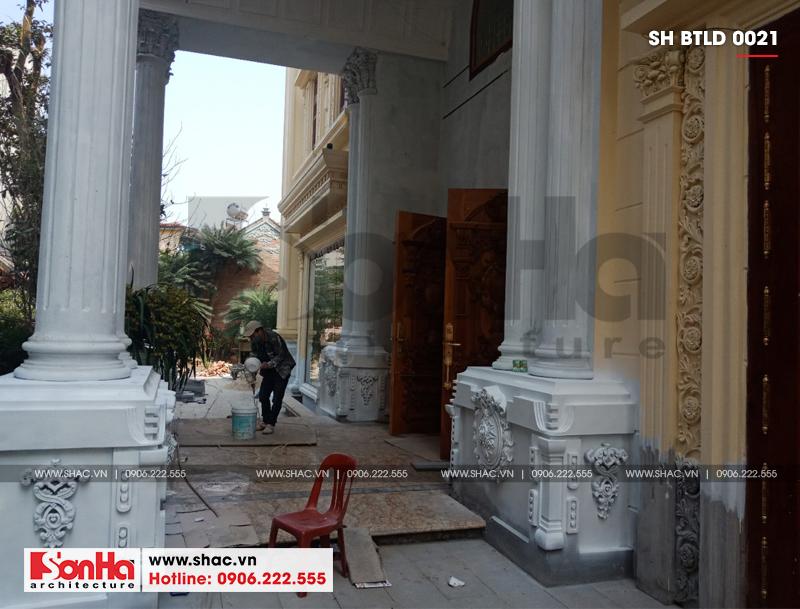 Xây nhà trọn gói công trình biệt thự cổ điển 4 tầng xa hoa tại Hà Nội – SH BTLD 0021 13