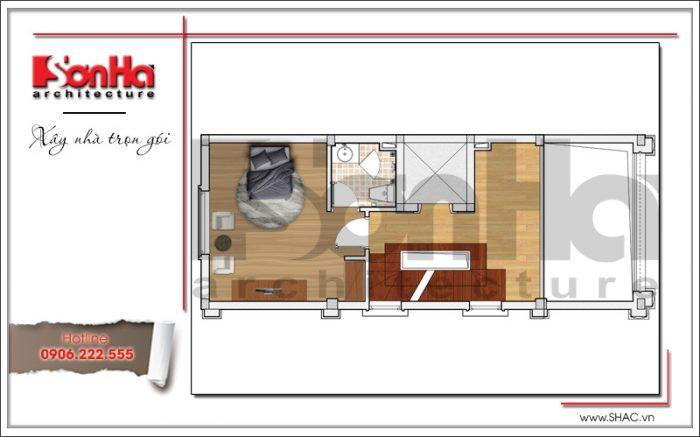 4 Mặt bằng công năng tầng lửng khách sạn mini tại quảng ninh sh ks 0044