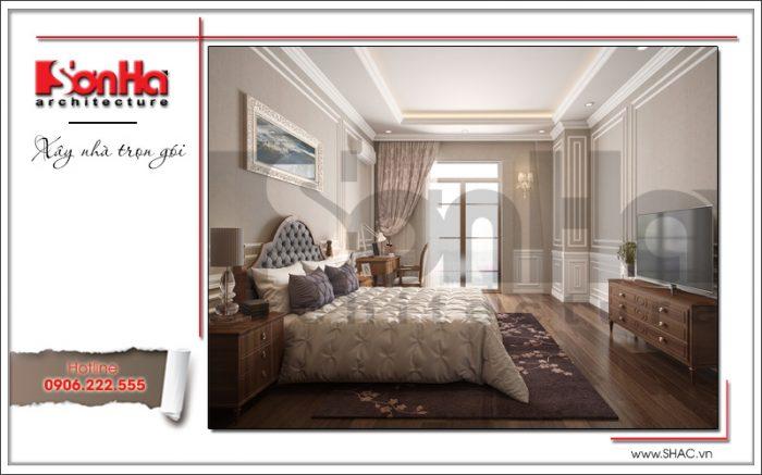 thiết kế thi công nội thất phòng ngủ cổ điển đẹp
