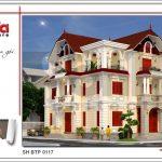 4 Mẫu thiết kế kiến trúc biệt thự tân cổ điển tại quảng ninh sh btp 0117