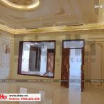 5 Ảnh thực tế thi công nội thất biệt thự lâu đài 4 tầng tại hà nội sh btld 0021