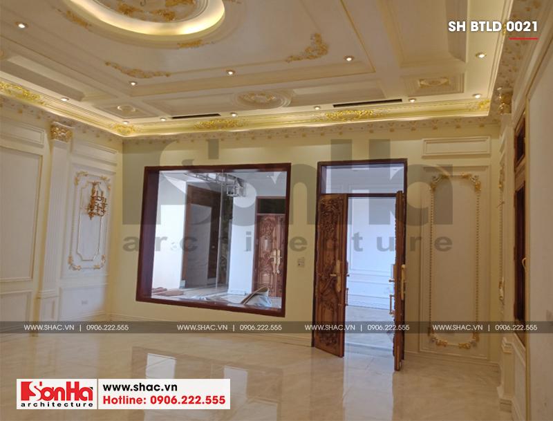 Xây nhà trọn gói công trình biệt thự cổ điển 4 tầng xa hoa tại Hà Nội – SH BTLD 0021 30