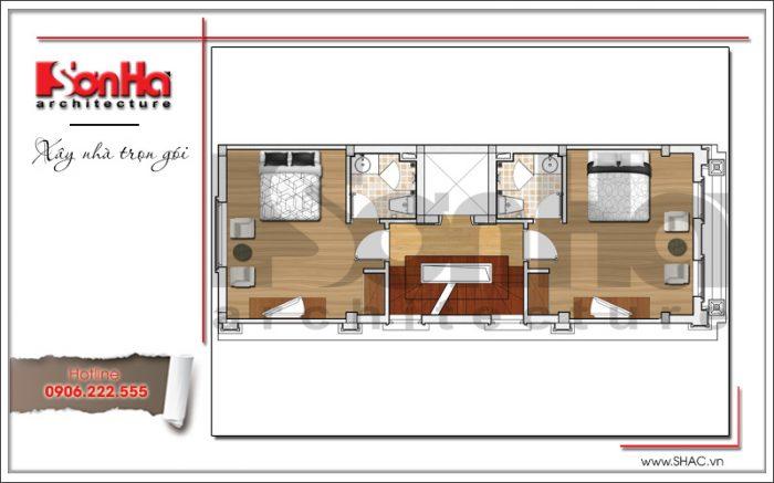 5 Mặt bằng công năng tầng 2 3 4 5 khách sạn mini tại quảng ninh sh ks 0044