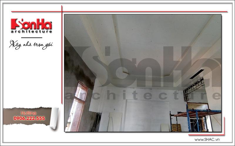 Xây nhà trọn gói công trình biệt thự cổ điển 4 tầng xa hoa tại Hà Nội – SH BTLD 0021 25
