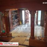 6 Ảnh thực tế thi công nội thất sảnh chính biệt thự lâu đài tại hà nội sh btld 0021