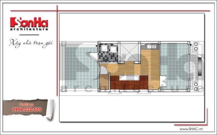 6 Mặt bằng công năng tầng 6 khách sạn mini tại quảng ninh sh ks 0044