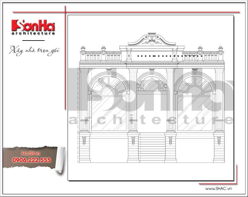 Hồ sơ thiết kế kiến trúc showroom và bản vẽ mặt bằng tại Bắc Ninh - SH SR 0021 6