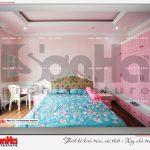 7 Ảnh thực tế nội thất phòng ngủ con gái biệt thự tân cổ điển khu đô thị vinhomes hải phòng