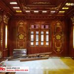 7 Ảnh thực tế thi công nội thất biệt thự lâu đài 2 mặt tiền tại hà nội sh btld 0021