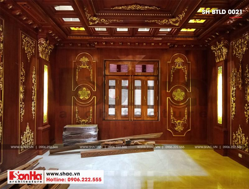 Xây nhà trọn gói công trình biệt thự cổ điển 4 tầng xa hoa tại Hà Nội – SH BTLD 0021 28