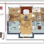 7 Mặt bằng công năng tầng 3 biệt thự tân cổ điển tại quảng ninh sh btp 0117