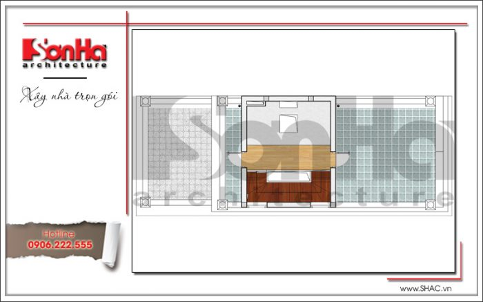 7 Mặt bằng công năng tầng tum khách sạn mini tại quảng ninh sh ks 0044
