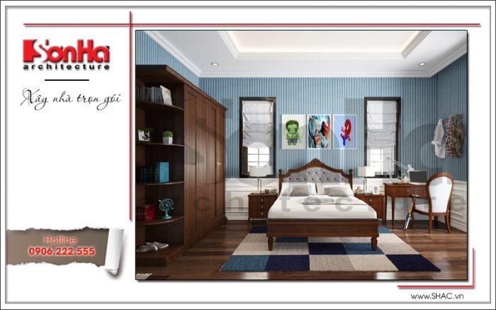 7 Thiết kế nội thất phòng ngủ con trai biệt thự khu đô thị vinhomes tại hải phòng