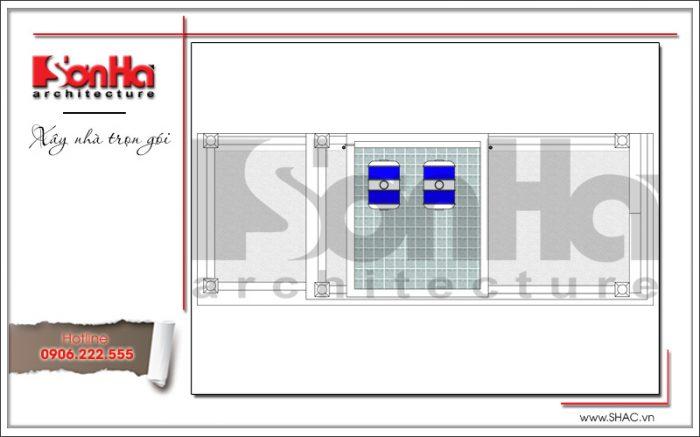 8 Mặt bằng công năng tầng mái khách sạn mini tại quảng ninh sh ks 0044