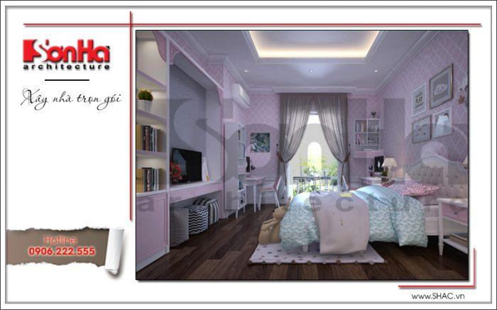 8 Mẫu nội thất phòng ngủ con gái biệt thự khu đô thị vinhomes tại hải phòng