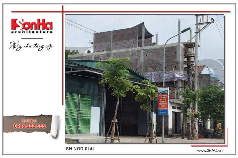 Xây nhà trọn gói công trình nhà phố cổ điển 4 tầng tại Quảng Ninh – SH NOP 0141 1