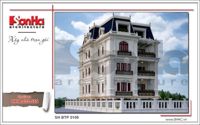Cách sắp xếp bố cục mạch lạc của ngôi biệt thự kiến trúc cổ điển châu Âu 4 tầng sang trọng