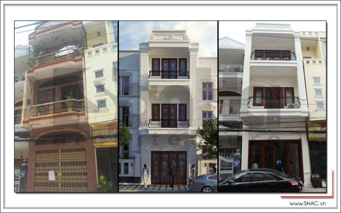 cải tạo nhà phố tân cổ điển 3 tầng tại hải phòng