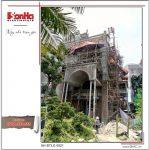 Hình ảnh thi công thực tế ngôi biệt thự lâu đài cổ điển Pháp 4 tầng xa hoa tại Gia Lâm (Hà Nội)