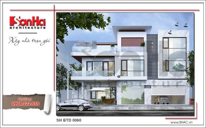 Kiến trúc ấn tượng của mẫu thiết kế nhà biệt thự hiện đại 3 tầng tại Lạng Sơn được đánh giá cao