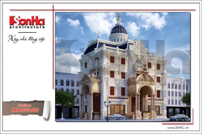 Kiến trúc ngoại thất mãn nhãn của ngôi biệt thự cổ điển châu Âu 4 tầng thương hiệu SHAC