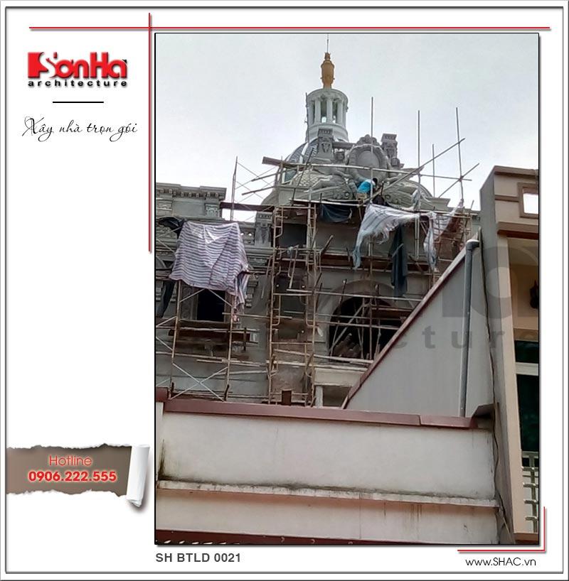 Xây nhà trọn gói công trình biệt thự cổ điển 4 tầng xa hoa tại Hà Nội – SH BTLD 0021 18