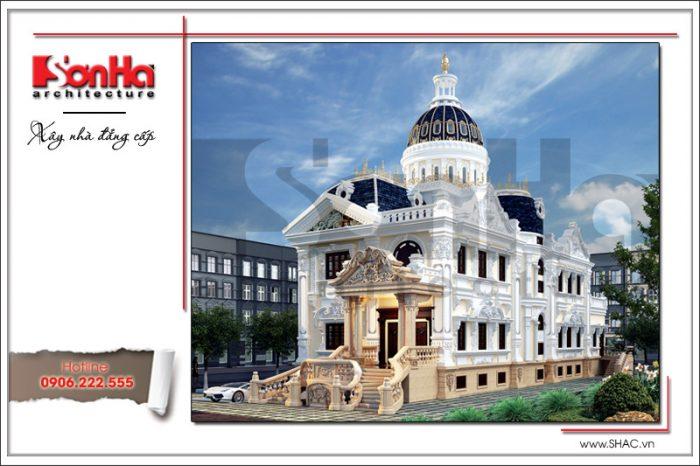 Mẫu biệt thự lâu đài cổ điển Pháp 3 tầng tại Bình Phước là niềm tự hào của cả CĐT và SHAC