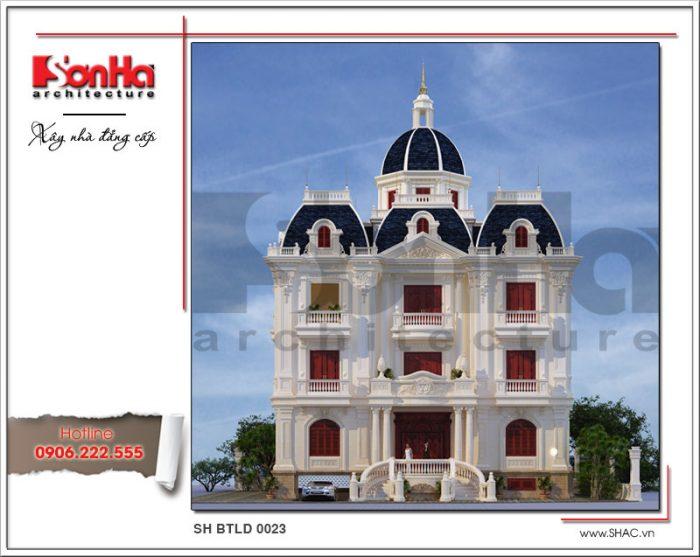 Mẫu nhà biệt thự lâu đài cổ điển 3 tầng đẹp tại Nam Định có thiết kế kiến trúc sang trọng