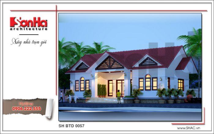 Phương án thiết kế mẫu nhà biệt thự mini thái 1 tầng đẹp và sang trọng tại Hải Dương