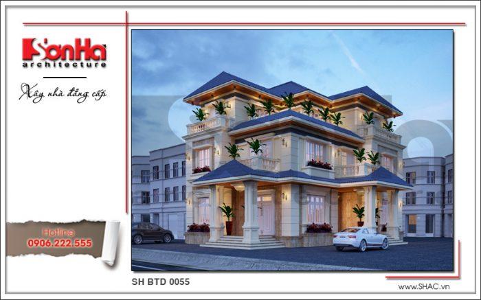 Thiết kế biệt thự 3 tầng mái Thái ấn tượng và trở thành điển hình xu hướng mới nhất 2018