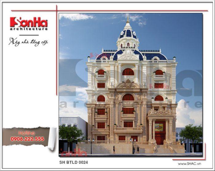 Thiết kế biệt thự cổ điển 6 tầng với sự kết hợp tinh tế các đường nét làm nên bố cục mạch lạc