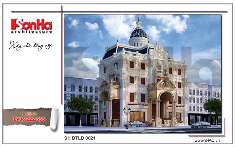 Xây nhà trọn gói công trình biệt thự cổ điển 4 tầng xa hoa tại Hà Nội – SH BTLD 0021 2