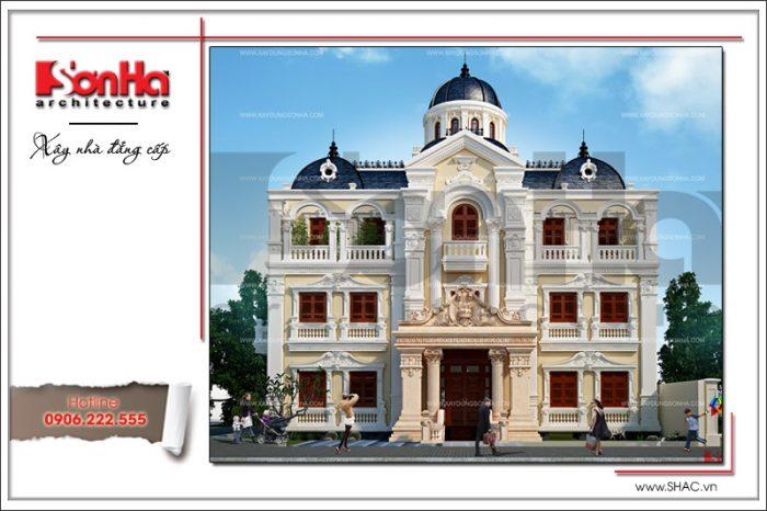 Tổng thế phối cảnh thiết kế lâu đài cổ điển 3 tầng kiểu Pháp hạ gục mọi ánh nhìn của CĐT