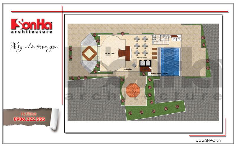 Mặt bằng khách sạn 3 sao phong cách cổ điển pháp tại Bến Tre - SH KS 0045 5