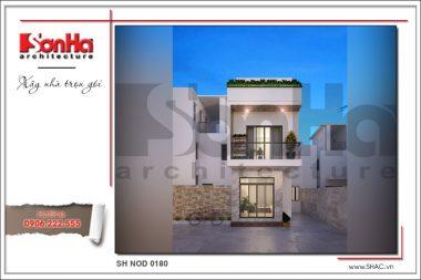 BÌA Mẫu kiến trúc nhà phố hiện đại đẹp tại hải phòng sh nod 0180