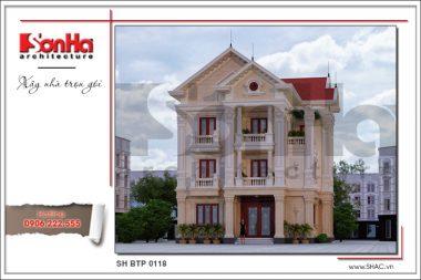 BÌA thiết kế kiến trúc mặt tiền biệt thự tân cổ điển đẹp tại lạng sơn sh btp 0118