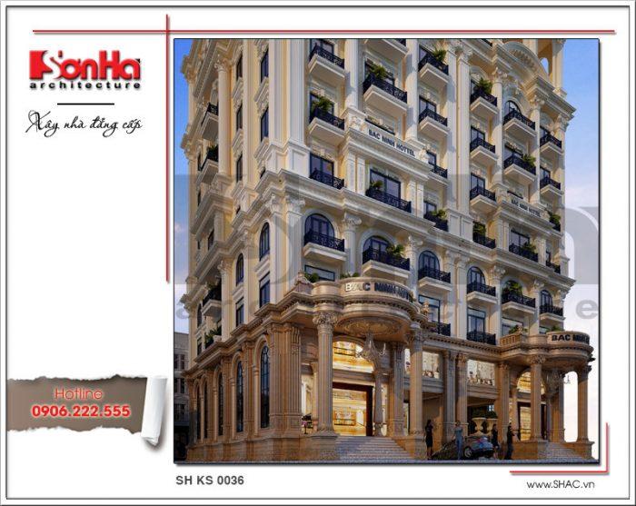 Cận cảnh đường nét tinh tế và sang trọng làm nên kiến trúc khách sạn 4 sao đẳng cấp