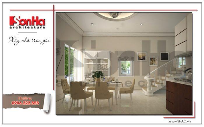 Đồ nội thất được sử dụng trong không gian bếp ăn là sự lựa chọn kỹ càng tỉ mỉ của các KTS