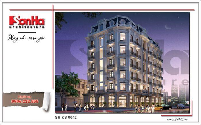 Hình khách sạn cổ điển đẹp tiêu chuẩn 4 sao được đánh giá cao mang thương hiệu SHAC uy tín