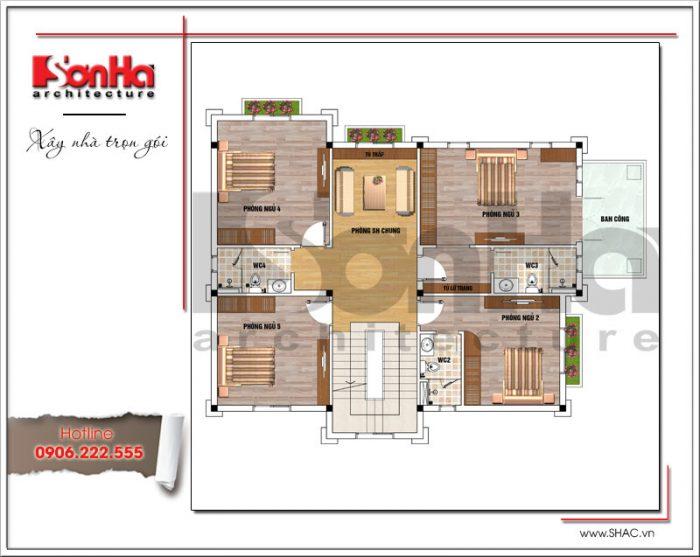 Mẫu biệt thự cổ điển kiểu pháp 2 tầng và mẫu bản vẽ hồ sơ xin cấp phép xây dựng nhà ở mới nhất