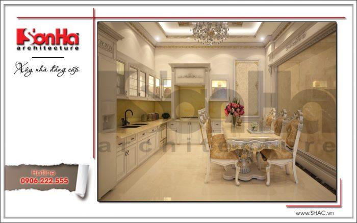 kiêu phòng ăn và bếp cổ điển cho biệt thự được ưa chuộng hiện nay