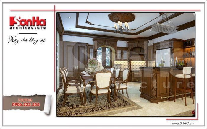 Mẫu nội thất phòng bếp ăn đẳng cấp với thiết kế sang trọng đẹp từ mọi góc đặt mắt