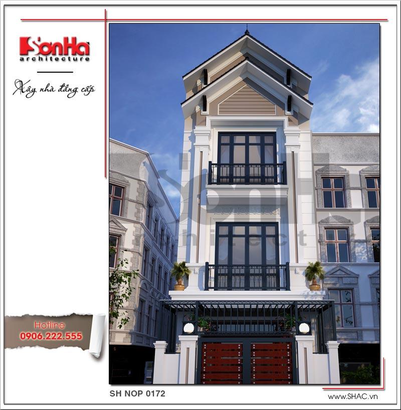 Mẫu thiết kế ngoại thất nhà phố hiện đại 3 tầng tại Phú Thọ được CĐT yêu thích và lựa chọn