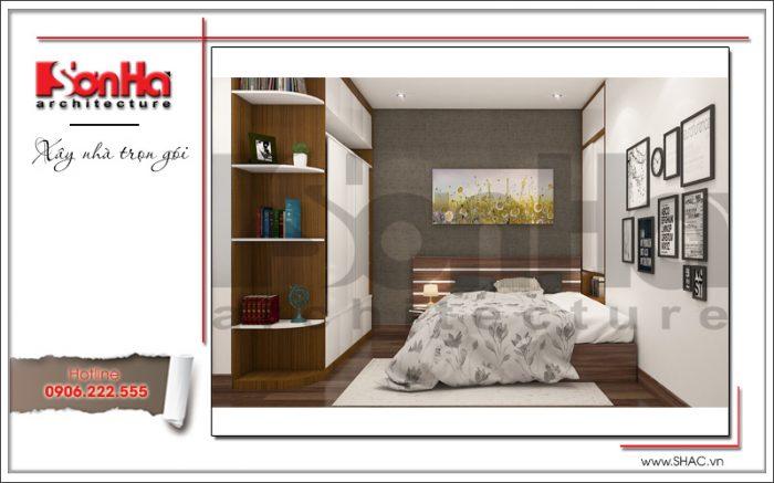 Mẫu thiết kế nội thất phòng ngủ con trai lớn của gia chủ đơn giản mà tiện nghi của SHAC