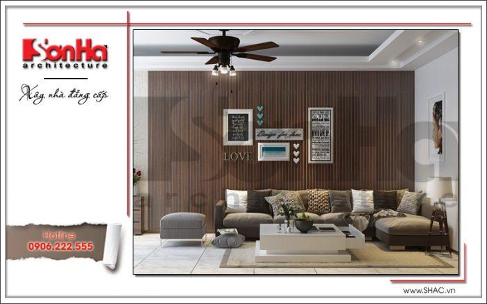 Phong cách hiện đại trẻ trung qua từng chi tiết thiết kế nội thất phòng khách nhà phố hiện đại